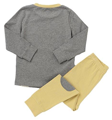 LieLiestar Little Boys Cute Tiger Print Long Sleeve Shirt & Pants Pajamas Set,Yellow 4T by LieLiestar (Image #1)
