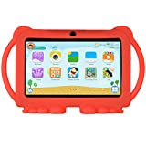 Xgody T702 7 Inch HD Kids Tablet PC Quad Core Android 8.1 1GB RAM 16GB ROM Touch Screen with WiFi Pre-Loaded 3D Game Dual Camera Red