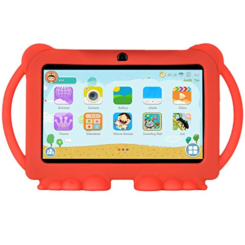 Xgody T702 7 Inch HD Kids Tablet PC Quad Core Android 8.1 1GB RAM 16GB ROM Touch Screen with WiFi Pre-Loaded 3D Game Dual Camera Red (Best Tablet Pc For Kids)