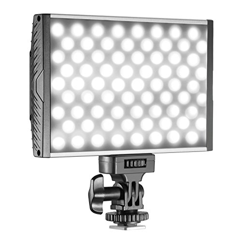 Neewer 144 LED PT-15B PRO Dimmable Camera/Camcorder Video Light Panel with Hot Shoe, Ultra-thin Bi-color Temperature 3200K-5600K LED Light for Canon Nikon Sony Pentax Panasonic Olympus DSLR by Neewer