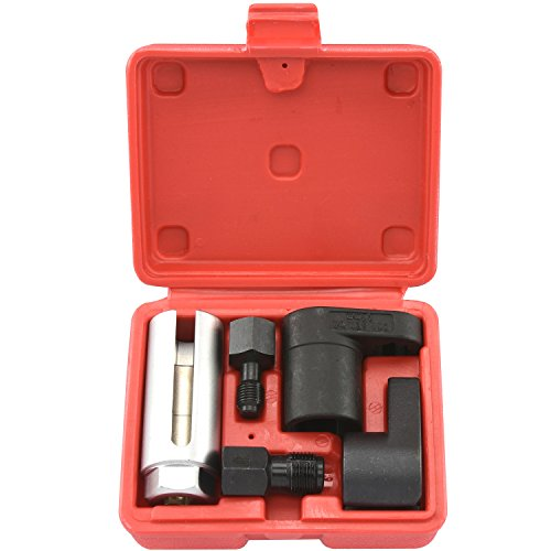 Tooluxe 20764L Oxygen Sensor Socket Wrench and Thread Chaser Set | 5-Piece Set O2 Sensor Tool