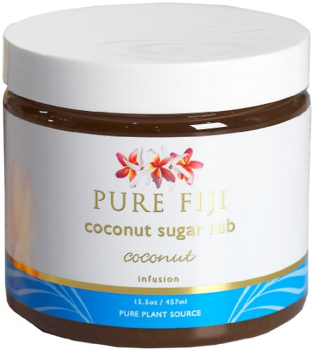 Pure Fiji Coconut Sugar Rub Coconut, 15.5 Ounce