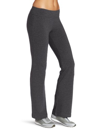Fold Over Pant Crop - Spalding Women's Bootleg Pant, Charcoal Heather, Small