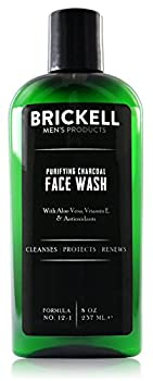 Brickell Men s Purifying Charcoal Face Wash for Men   Natural & Organic Facial Cleanser   8 oz