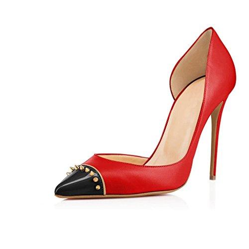 rouge Coupe Kolnoo femme 37 fermées rouge 77I4gr