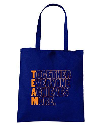 T-Shirtshock - Bolsa para la compra WC0586 TEAM - Together Everyone Achieves More Azul Marino
