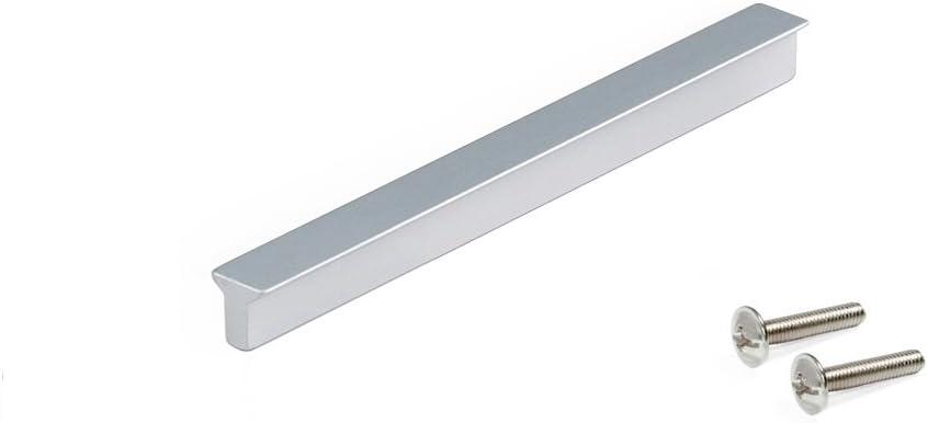 CC 64mm Emuca 9165762 Poign/ée pour meuble aluminium,anodis/é mat Set de 25 pi/èces