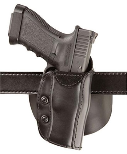 Safariland 568 Custom Fit Paddle STX Plain Finish Colt Detective, S and W J Frame 2-Inch Holster, Left Hand, Plain Black