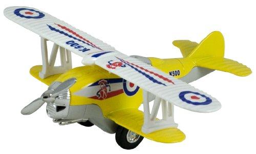Biplane Yellow - Show Flights Biplane Pullback (Yellow)