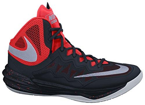 c6143a31436 Nike Hommes Prime Hype Df Ii Chaussure De Basket Noir   Argent   Orange