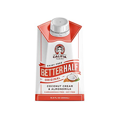Califia Farms - Original Better Half Coffee Creamer, 16.9 Oz (Pack of 6) | Half and Half | Coconut Cream and Almond Milk | Non Dairy | Plant Based | Vegan | Non-GMO | Shelf Stable