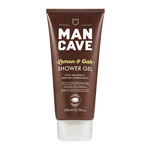 Mancave Natural Lemon & Oak Shower Gel, 6.76 fl. Ounce