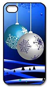 coolest iphone 4 cases Christmas decoration balls PC Black for Apple iPhone 4/4S by supermalls