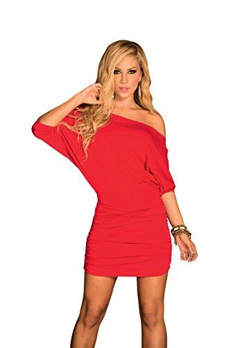 Fuori Sexy manicotto Mapalé Donne Da Am Rosso Bicchierino Vestito Delle Spalla Pm q0a60w4v