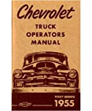 1955 CHEVROLET TRUCK Owners Manual First Series Guide