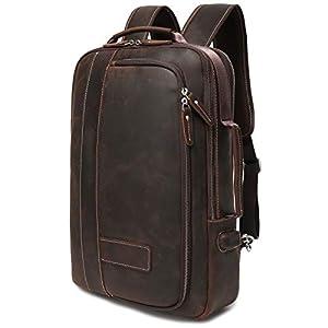 Lannsyne リュック メンズ 本革 2way バックパック 革 ビジネスバッグ