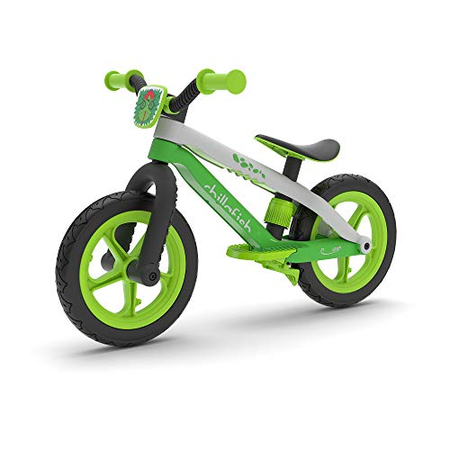 Chillafish Bmxie² Lightweight Balance Bike with Integrated Footrest and Footbrake for Kids Ages 2 to 5 Years, 12-inch…