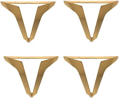 モダンな鉄製家具脚-滑り止めラバーソール、高耐荷重、ソファ、オスマン、コーヒーテーブル交換部品用