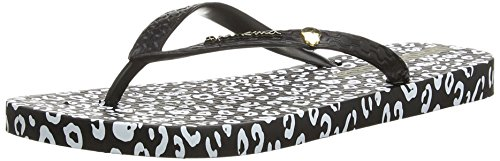 femme Print Ipanema Animal Black Noir White Tongs xOOSWw