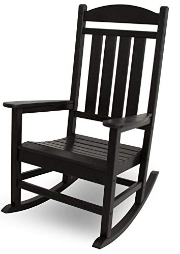 (POLYWOOD R100BL Presidential Outdoor Rocking Chair, Black (Renewed))