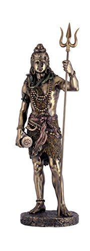 Shiva Statue - Top Collection 24-Inch large standing Shiva statue holding Trishula Trident. Premium cold cast bronze powder cast. Stunning to behold