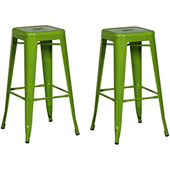 30 Inch Industrial Bright Color Glossy Tolix Style Bar Stool Home And  Commercial,