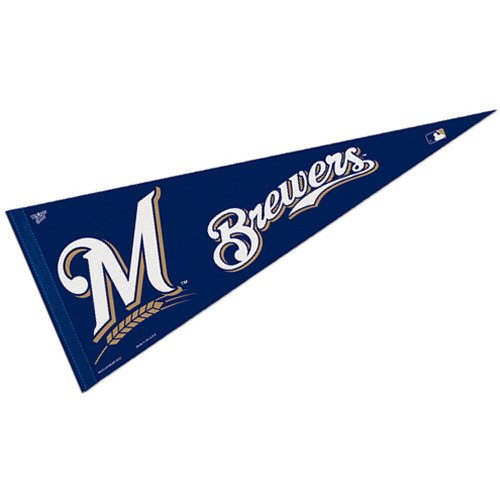 Milwaukee Brewers Classic Baseball - WinCraft MLB Milwaukee Brewers WCR63805612 Carded Classic Pennant, 12