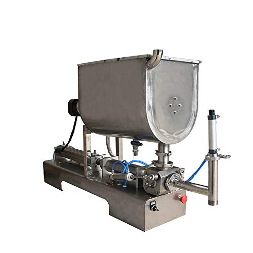 USA Stock 1000ml Paste Filling Machine peanut Butter Piston Mixer Hopper Filler
