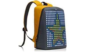 Pix Backpack (Yellow) – Smart Digital Waterproof Backpack for Women & Men. LED Backpack - College Backpack - School Backpack - Laptop Backpack For Women & Men - Travel Backpack for 15'' Laptop