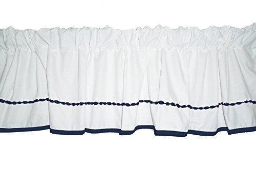 Baby Doll Bedding Unique Window Valance, Navy by BabyDoll Bedding