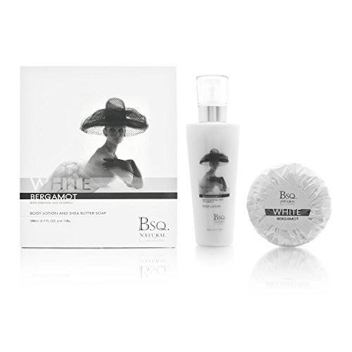 Square Natural Berkeley (Bsq. Natural Couture White Bergamot 2 Piece Set Includes: 6.7 oz Body Lotion + 150g Shea Butter Soap)