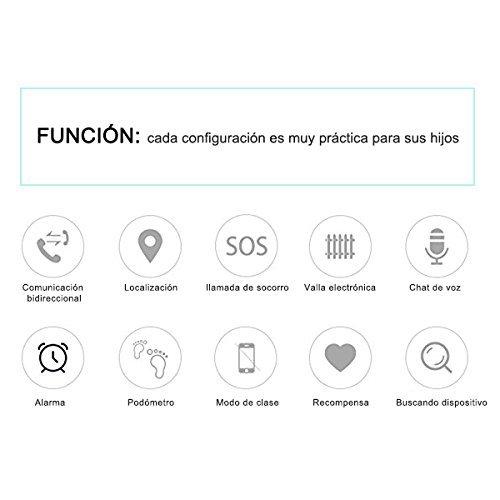 Amazon.com: Reloj Infantil Smartwatch para Niños Con llamada Toque HD Pantalla SOS GPS Despertador Compatible con Android IOS App (1.44 Pulgadas (Rojo): ...