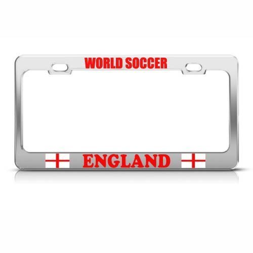 Guang trading England English Flag World Soccer Metal License Plate Frame Tag Holder by Guang trading