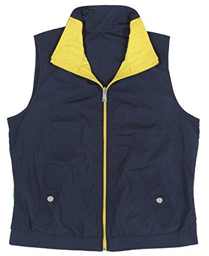 Ralph Lauren Women's Reversible Zip-Up Colorblocked Vest-SN-XL