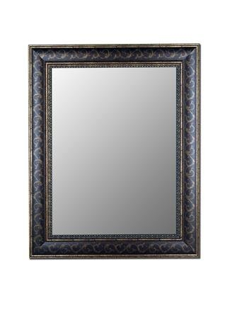 Cameo Collection Mirror in Bordeaux Walnut Gold Scroll Size: 35
