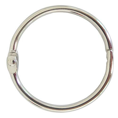 Book Binder Rings 2 Inch Office Loose Leaf Ring(20 Pack) Nickel Plated Silver
