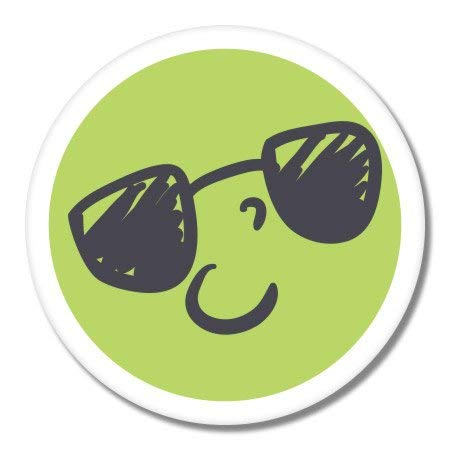(Carframes18 Smiley Sunglasses Vinyl Sticker Bumper Sticker Decal)
