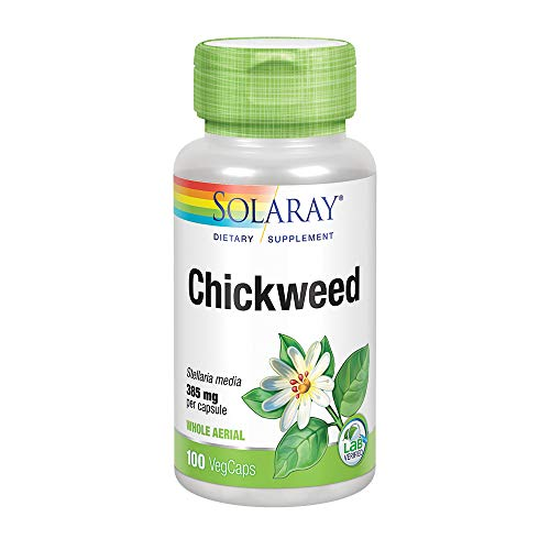Solaray Chickweed Capsules, 385 mg, 100 Count