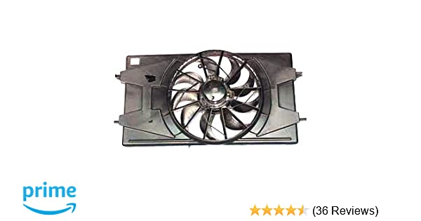 TYC 621100 Chevrolet Cobalt Replacement Radiator//Condenser Cooling Fan Assembly