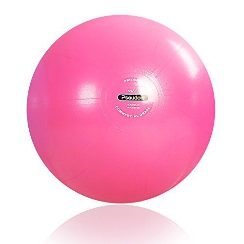 Pseudois Antislip Yoga Exercise Ball with Foot Pump Balance Ball Chair 55-75cm