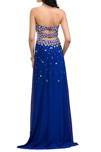 Sunvary Fiesta sera Prom Custodia Il raso in abito motivo real lungo delizioso azul da rPrwxqfa