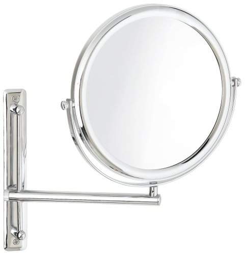 Jerdon JP3030CF 9-Inch Wall Mount Makeup Mirror with 3x Magnification, Chrome Finish by Jerdon (Image #1)