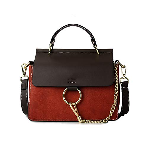 Turnlock Bag - Olyphy Designer Ring Bags for Women, Mini Shoulder Purses Leather Crossbody Bag with Chain
