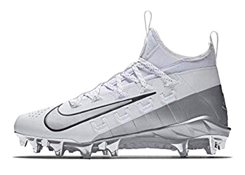 Nike Men's Alpha Huarache 6 Elite Lax LE Cleats (7, White/Metallic Silver)