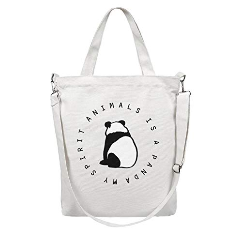 Women's Canvas Tote Bags Grocery Bag Cotton Handbag Cute for Groceries Recycle Gift Bags]()