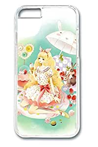 Anime Girl 2 Cute Hard Cover For iPhone 6 Plus Case ( 5.5 inch ) PC Transparent Cases