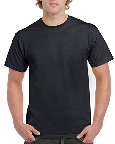 Gildan Men's G2000 Ultra Cotton Adult T-Shirt, Black, Large
