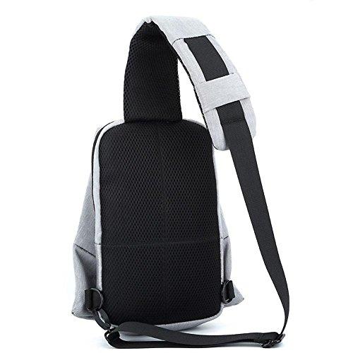 Hiking Climbing Shoulder Sling Oxford Bag Outdoor Yxngbo Bags School Men Black Cloth Chest Travel Daily Cycling Mountain Backpack qZwOCCE