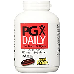 Natural Factors PGX Daily Ultra Matrix 750mg, Daily Support for Appetite Control, 120 Soft Gels