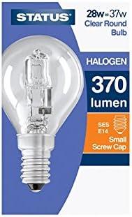 Status 5022822162990 Halogen Energy Saver 28 Watt Round Bulb